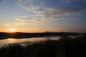 Закат на Вишере